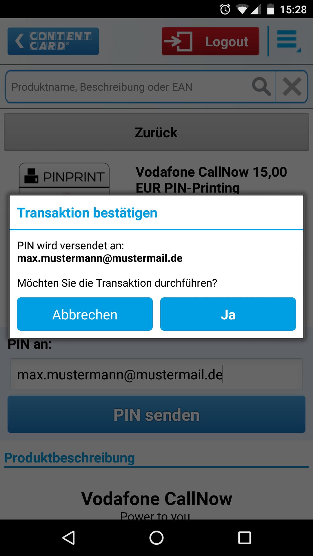 ePIN Seller App